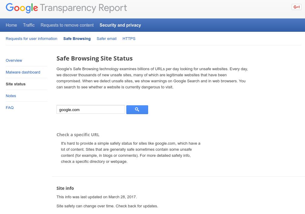Google met à jour son outil de vérification de la sécurité des sites web