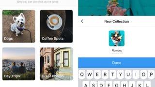 Instagram autorise l'enregistrement de photos et vidéos dans des collections privées