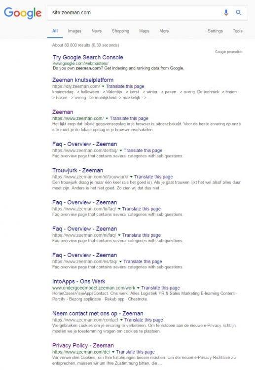 Google teste des liens gris dans les SERP