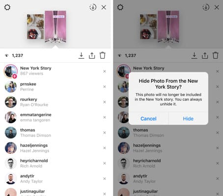 Instagram permet de cacher des Stories de l'exploration