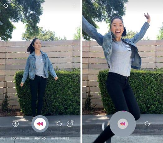 Instagram ajoute l'option Rewind pour créer des vidéos qui tournent dans le sens inverse