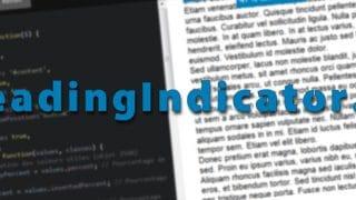 Reading Indicator JS : plugin jQuery pour afficher un taux de lecture d'un bloc HTML ou d'un texte