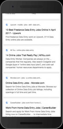 Google teste une icône de globe dans les résultats de recherche