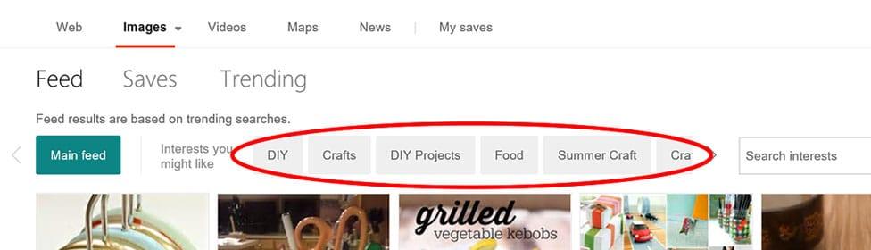 Bing permet de créer des flux vidéo ou photo comme Pinterest
