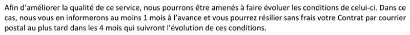 Clause du contrat de Bouygues Telecom pour la 4G Box