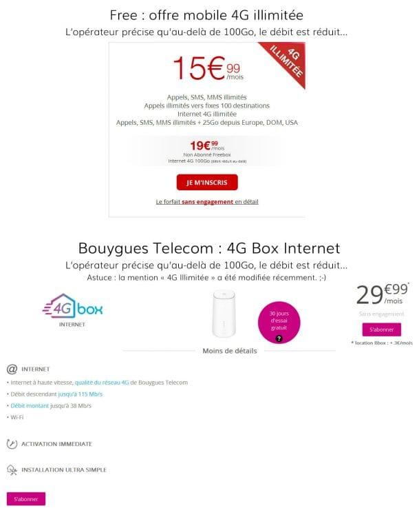 Transparence des offres 4G illimitées selon les opérateurs