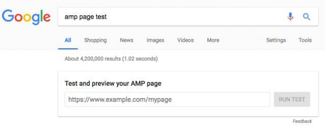 Googleteste des pages AMP dans les SERP
