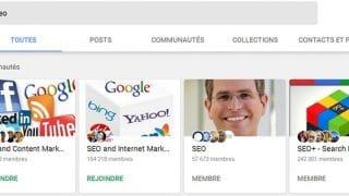 Filtres de recherche dans Google+