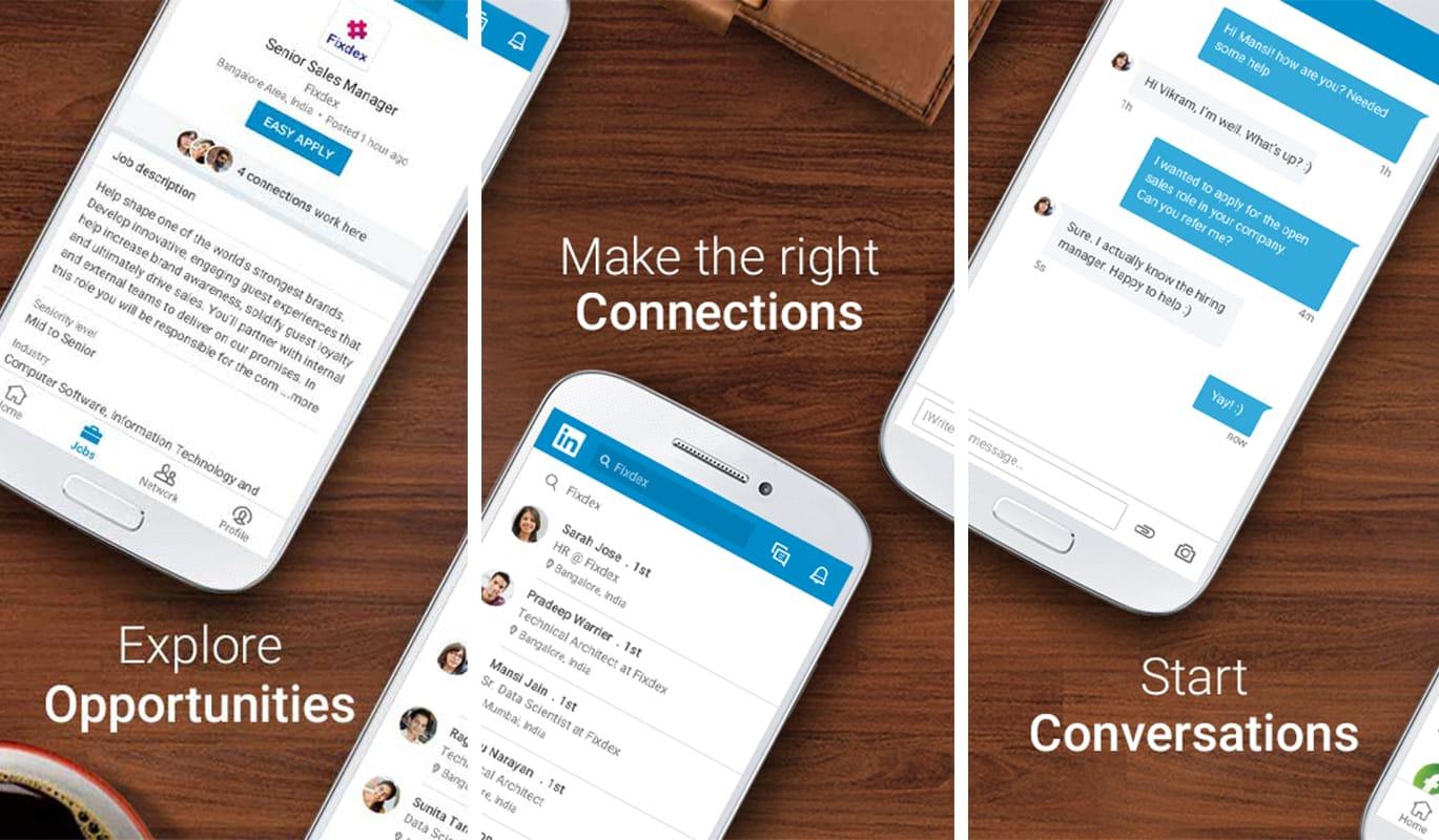 LinkedIn : réseau social professionnel sur mobile et ordinateur