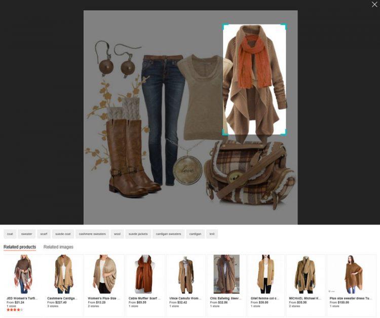 Bing Visual Search introduit une reconnaissance des formes automatique