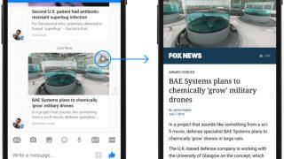 Facebook supprime les Instant Articles de Facebook Messenger