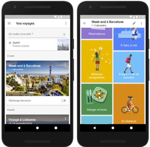 Le compagnon idéal du voyageur — Google Trips