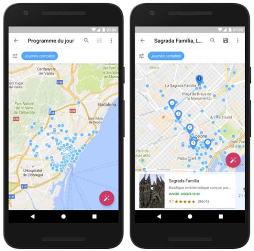Google Trips, un guide de voyage avec programme de la journée
