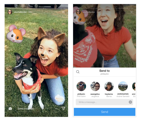 Les Stories se partagent dans Direct — Instagram