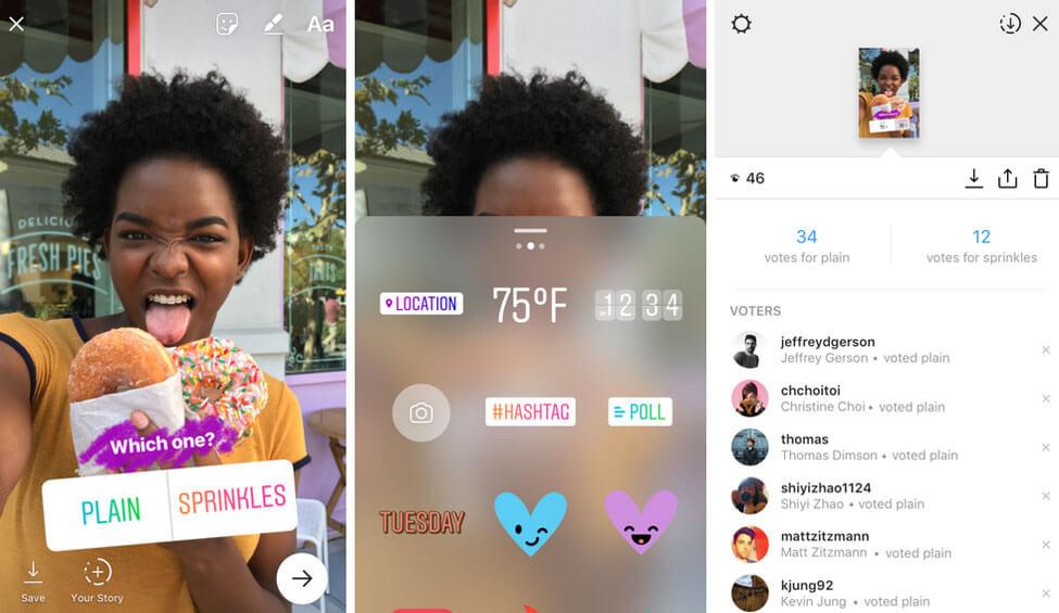 Instagram ajoute des sondages dans les Stories du réseau social mobile