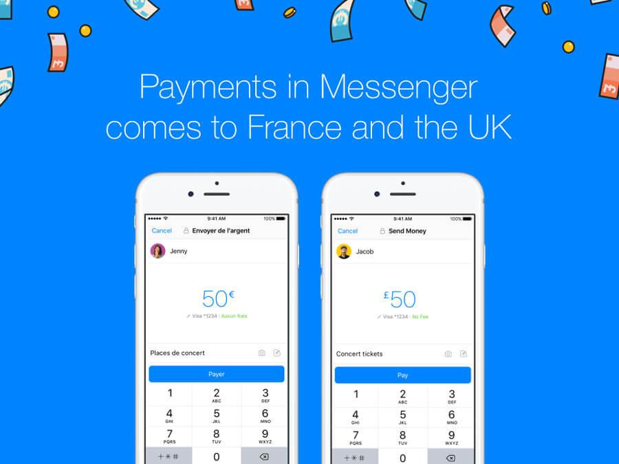 Facebook Messenger permet de payer des amis dans la messagerie du réseau social