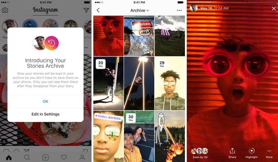 Instagram Stories Archive pour enregistrer les anciennes Stories du réseau social