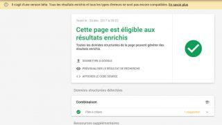 Outil de test des résultats enrichis (Rich Results) de Google