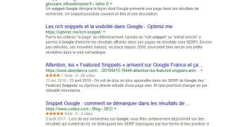 Snippets et meta description de Google limités à 320 caractères maximum