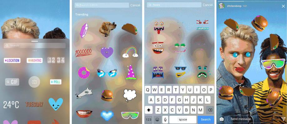 Instagram ajoute des GIF stickers dans le réseau social mobile