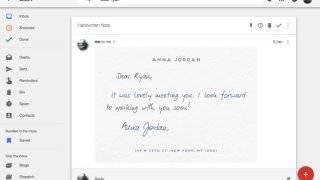 Gmail sait lire dans les images du texte écrit en écriture manuscrite