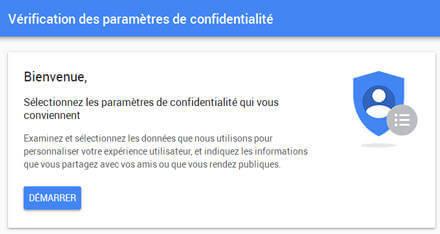 Outil de test des paramètres de confidentialité de Google