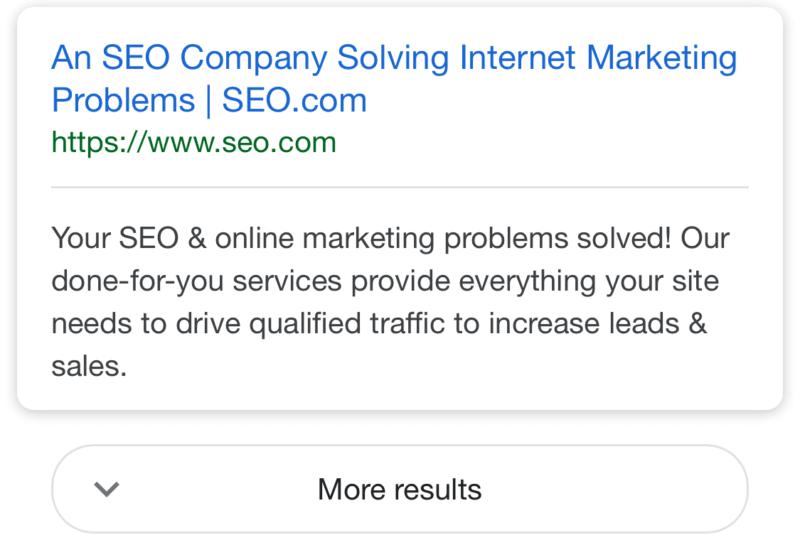 Afficher plus de résultats sur mobile avec Google, sans pagination