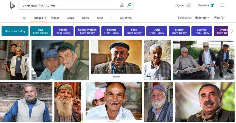 Bing Images et la reconnaissance des formes