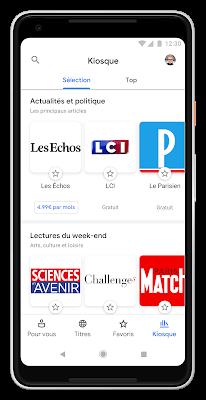 Des milliers de magazines dans le nouveau Google Actualités sur mobile