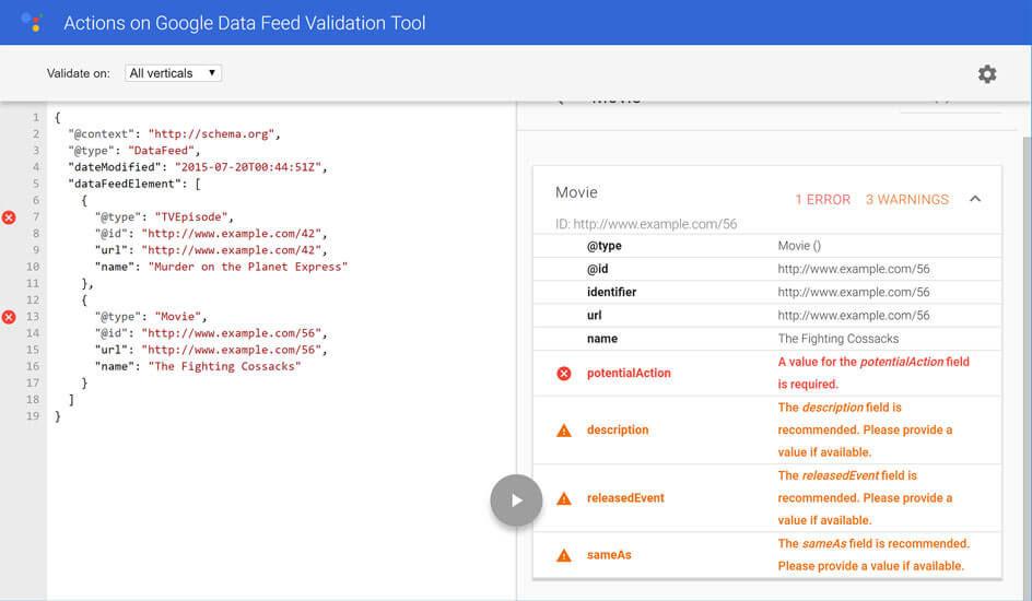 Google lance le marqueur DataFeed et les Media Actions en rich snippets