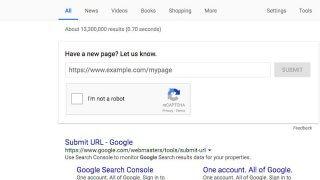 Historique soumission d'URL par formulaire de Google dans les SERP en 2017-2018 (fini depuis...)