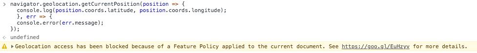 Blocage de la gélolocalisation avec l'entête HTTP Feature-Policy