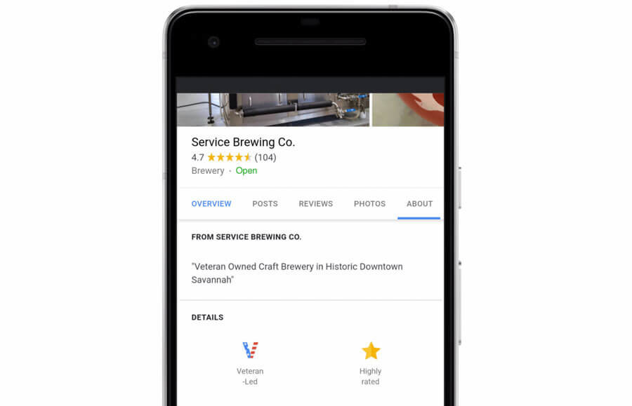 "Google My Business ajoute un attribut d'identité ""Veteran-led"""