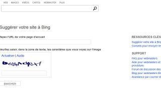 Ancienne soumission d'URL anonyme de Bing, désormais supprimée