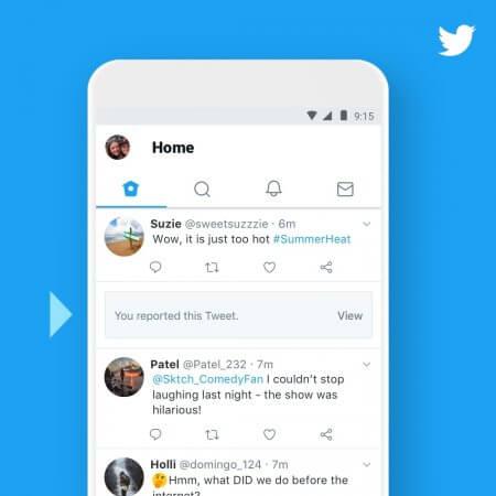 Twitter masque les tweets signalés par les utilisateurs