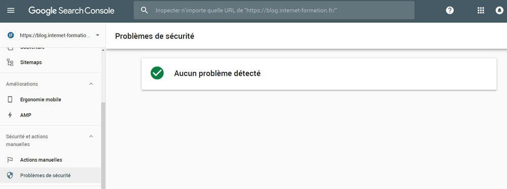 Problèmes de sécurité affichés dans la nouvelle Google Search Console
